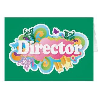 Music Director Retro Burst Greeting Card