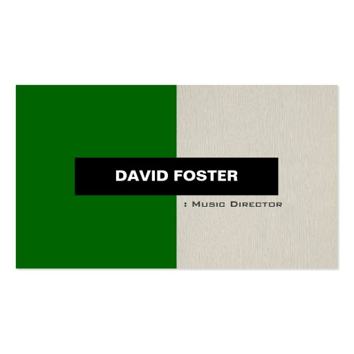 Music Director - Simple Elegant Stylish Business Card