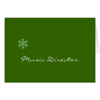 Music Director Snowflake Card