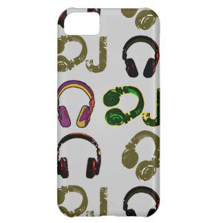 music disc jockey headphones iPhone 5C case