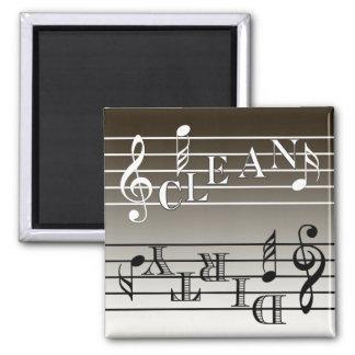 Music Dishwasher Indicator Refrigerator Magnets
