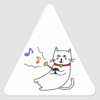 Music distantly liquor cat senior favorite of whit triangle sticker