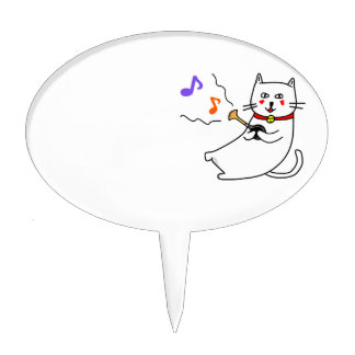 Music distantly the cat senior series of the white cake topper
