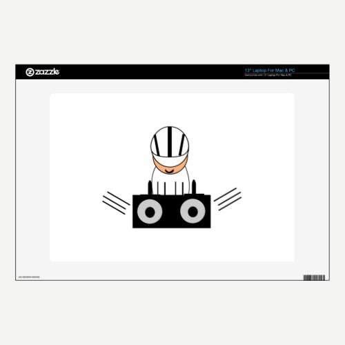 "Music DJ 13"" Laptop Skin"
