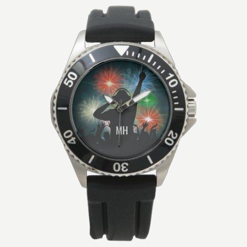 Music DJ custom monogram watches