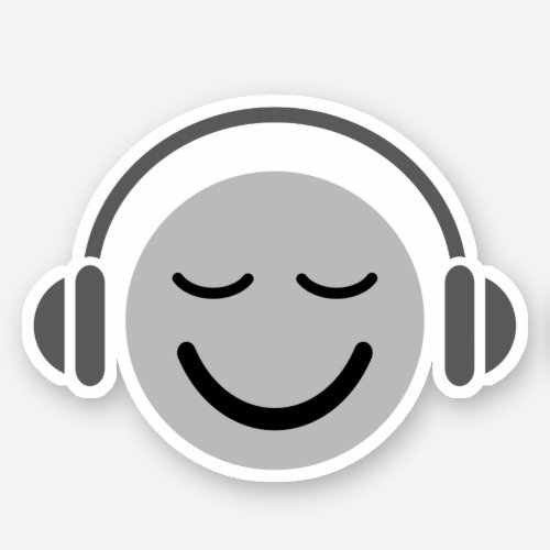 Music DJ emoji with headphones Sticker