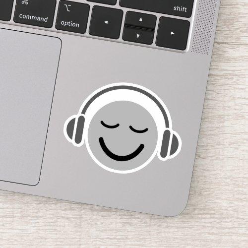Music DJ emoji with headphones Sticker