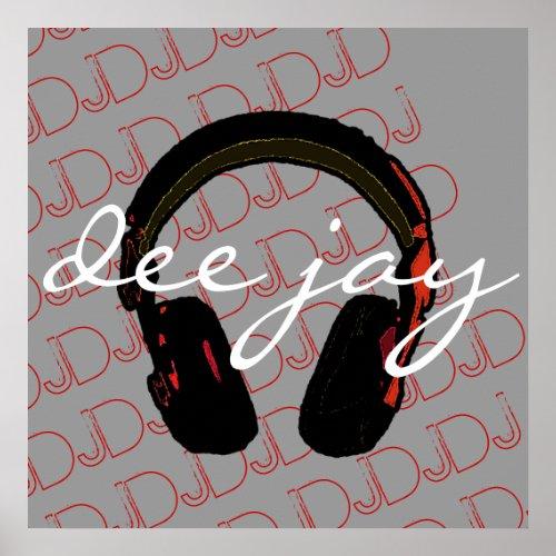 music DJ headphone decorantig wall Poster