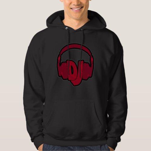 music DJ headphone Hoodie