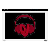 music DJ headphone Laptop Decals