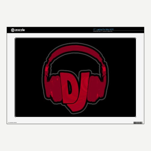 music DJ headphone Laptop Decals