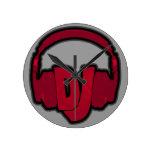 music DJ headphone Round Clock