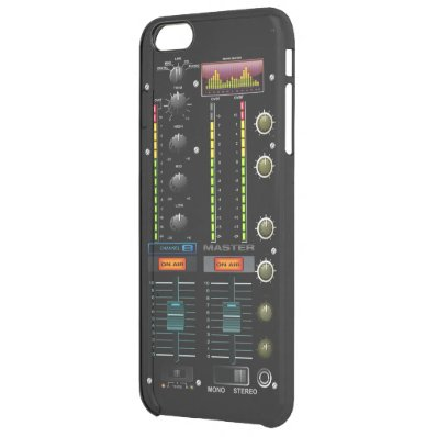 Music DJ Mixete Mixer Clear iPhone 6 Plus Case