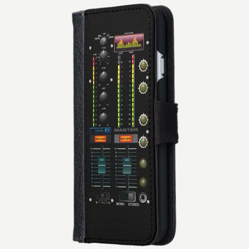 Music DJ Mixete Mixer Wallet Phone Case For iPhone 6/6s