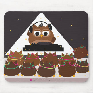 Music DJ Owl Design - Mousepad