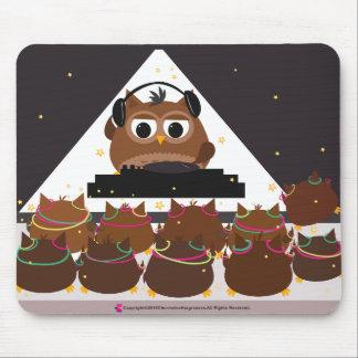 Music DJ Owl Design - Mousepad