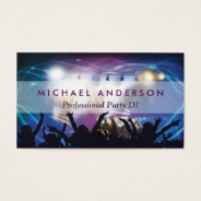 Music Dj Party Concert Planner - Modern Stylish Business Card at Zazzle
