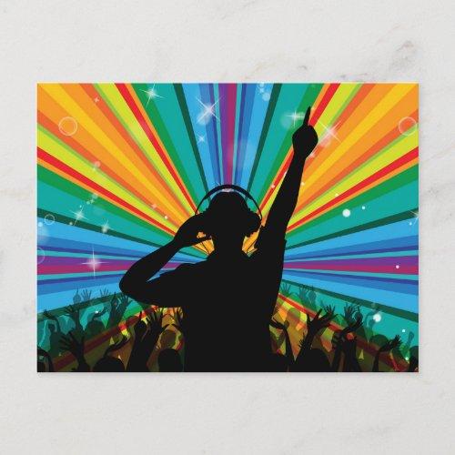 Music DJ postcard