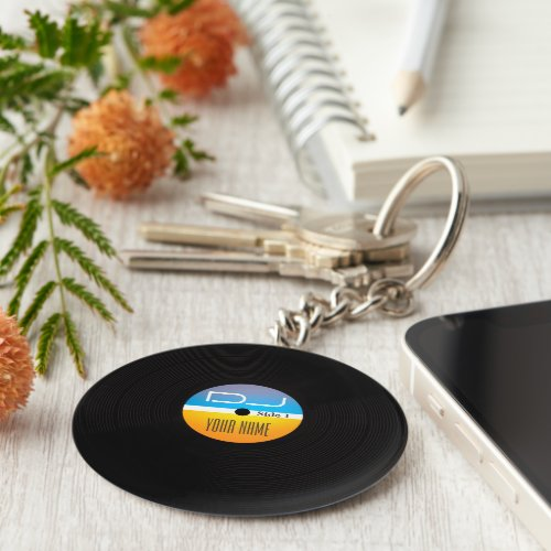 Music DJ stlye vinyl cover Keychain
