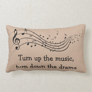 Music Drama Cotton Pillow