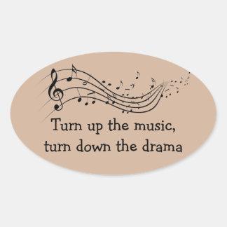 Music Drama Oval Sticker