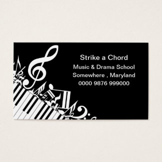 Music Drama School Advertising promotion Business Card