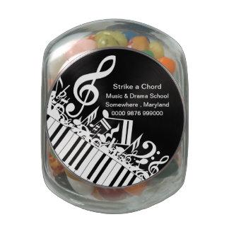 Music Drama School Advertising promotion Glass Jar