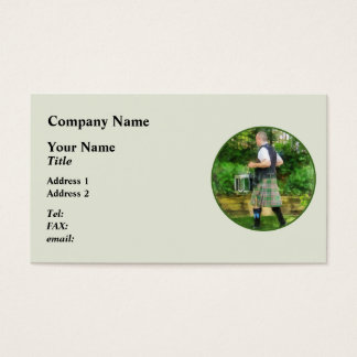 Music - Drummer in Pipe Band Business Card