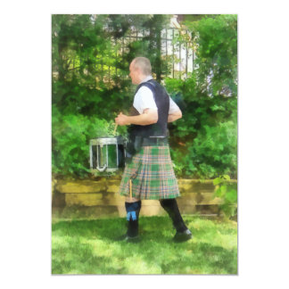 Music - Drummer in Pipe Band Card