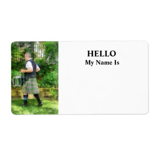 Music - Drummer in Pipe Band Label