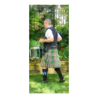 Music - Drummer in Pipe Band Rack Card