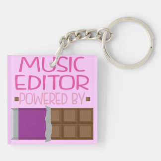 Music Editor Chocolate Gift for Her Keychain