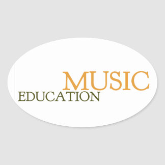 Music Education Hat Oval Sticker