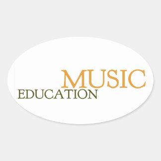 Music Education Hat Oval Sticker