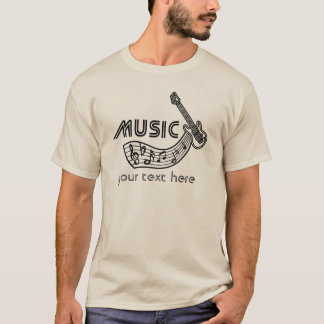 Music - Electric Guitar - on light shirt