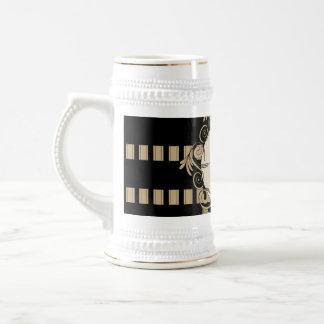 Music, elegant stripes as background with key note coffee mug