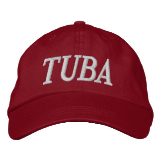 Music Embroidery Tuba Cap Embroidered Hat
