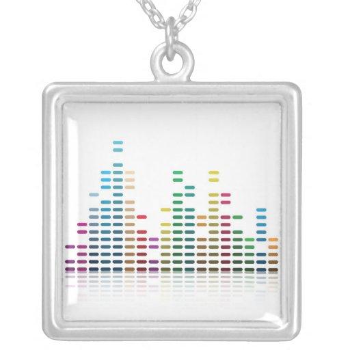 music equalizer custom necklace