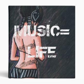 Music Equals Life Binder