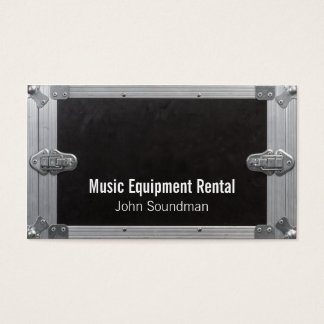 music equipment rental business card
