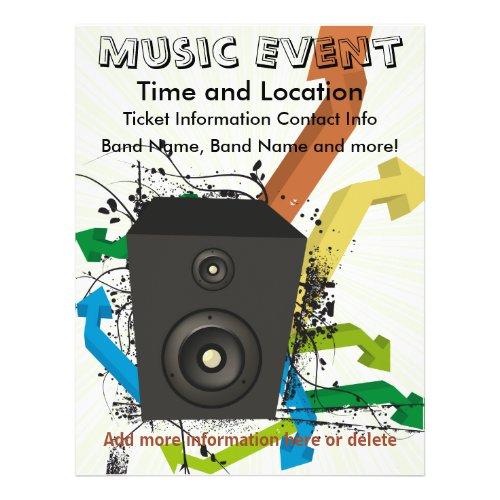 Music Event Arrows Flyer flyer