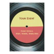 Music Event Dance DJ Party Invitation at Zazzle