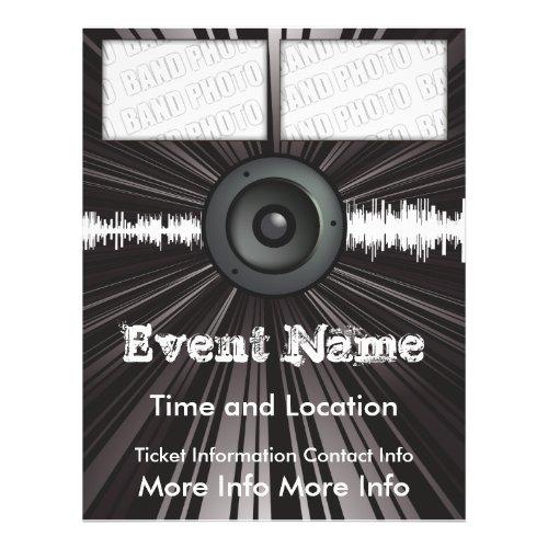 Music Event Flyer Speaker Blast flyer