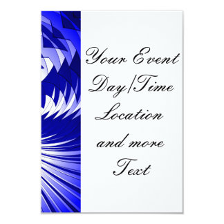 Music Explosion blue 3.5x5 Paper Invitation Card