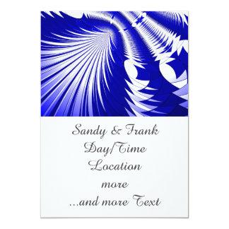 Music Explosion blue 5x7 Paper Invitation Card