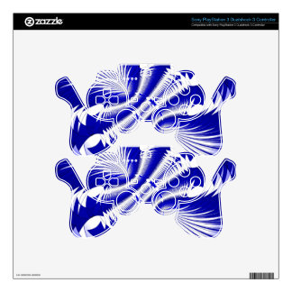 Music Explosion blue Decal For PS3 Controller
