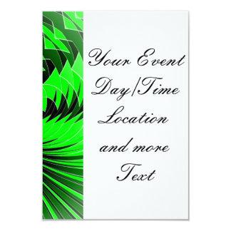 Music Explosion green 3.5x5 Paper Invitation Card