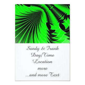 Music Explosion green 5x7 Paper Invitation Card