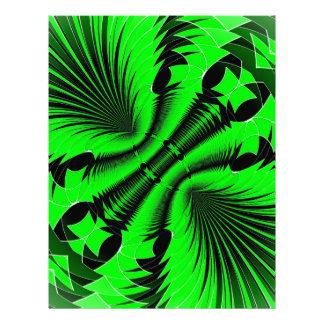 Music Explosion green Customized Letterhead