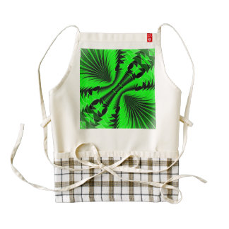 Music Explosion green Zazzle HEART Apron